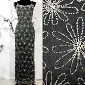 ✨VTG✨ 80s PAPELL BOUTIQUE Beaded Gown